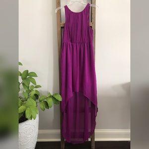 Magenta High-Low Dress